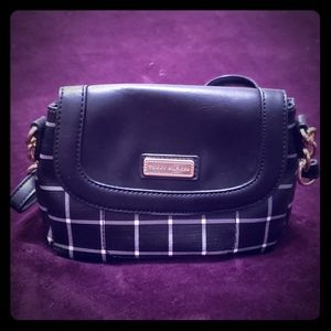 Tommy Hilfiger Black and White Crossbody Purse